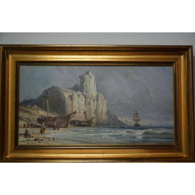 Falaises Au Bord De Mer - Edwin Hayes 1819/1904