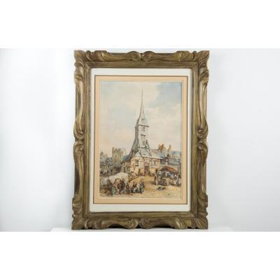 Marché de Normandie, Honfleur - Auguste Constantin 1824/1895