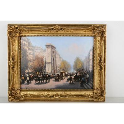 Paris, Autumn Effect At La Porte Saint Martin - Gaspar Miro I Lleo 1859-1930