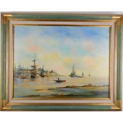 Gréments Dans La Lagune De Venise - Roch Kordian Né En 1950