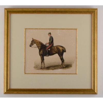 Officier d'artillerie à cheval - H de Somer (fin XIX ème siècle)