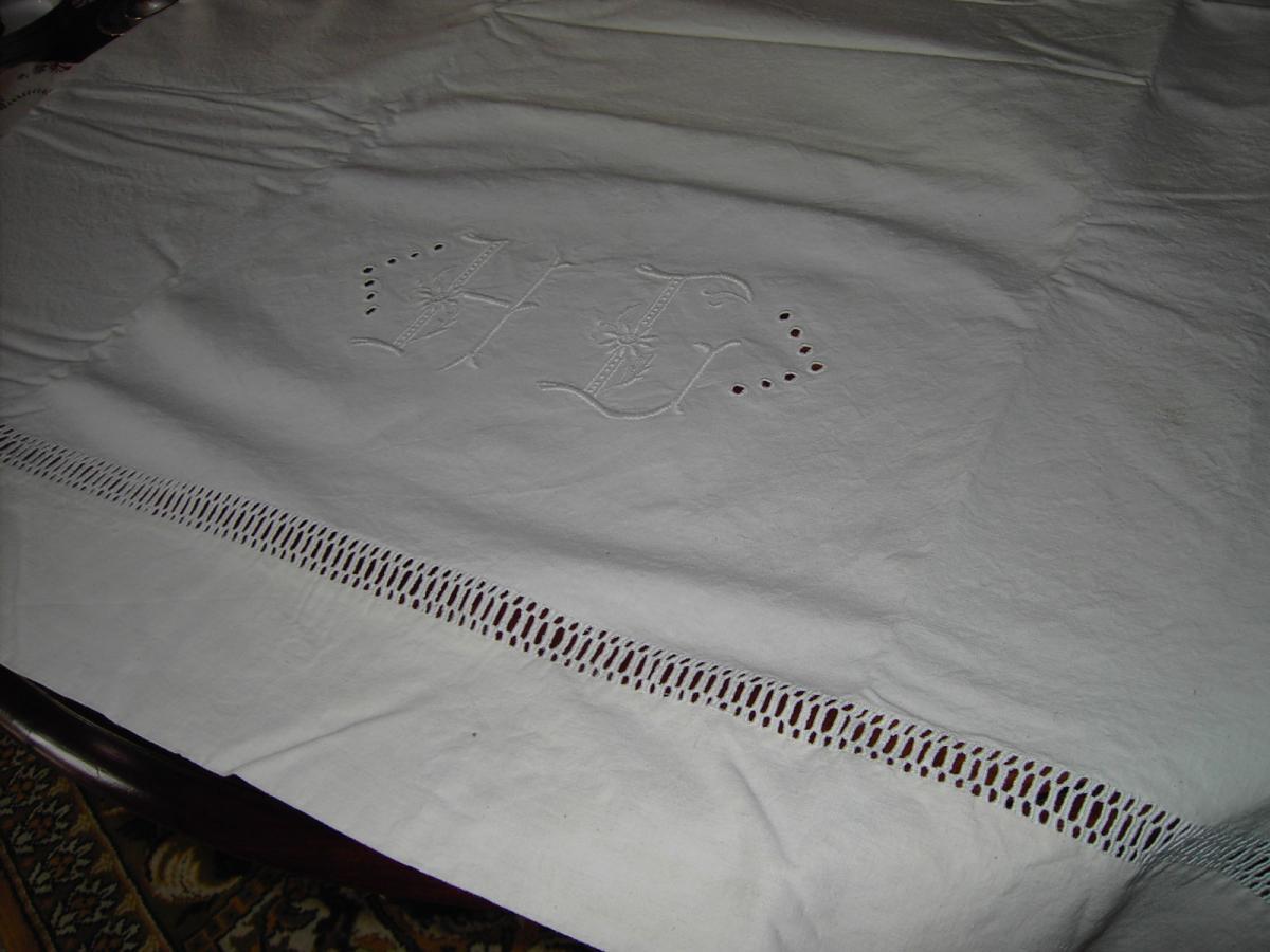 Draps M Tis Brod Main Textile Ancien
