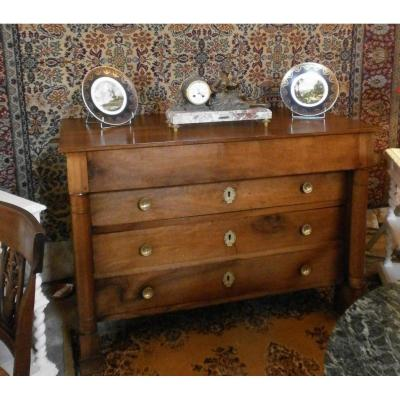 Commode Empire En Noyer Massif