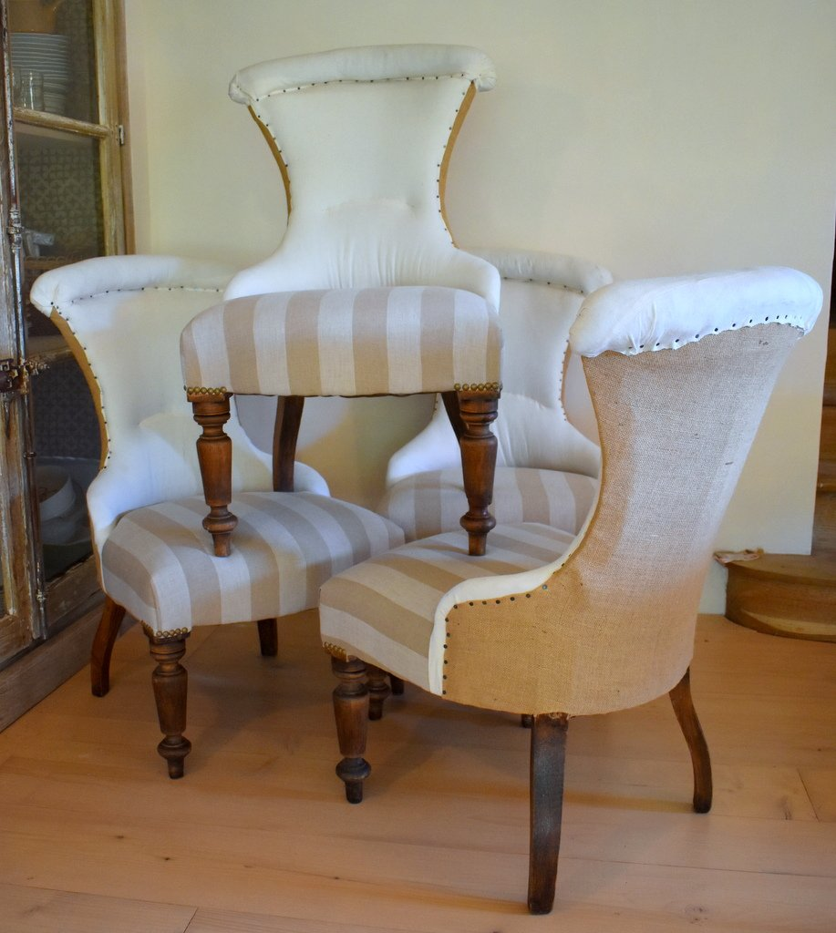 Set Of 4 Napoleon III Fireside Chairs
