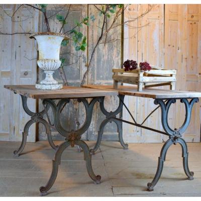 Paire De Tables Bistrot XIX