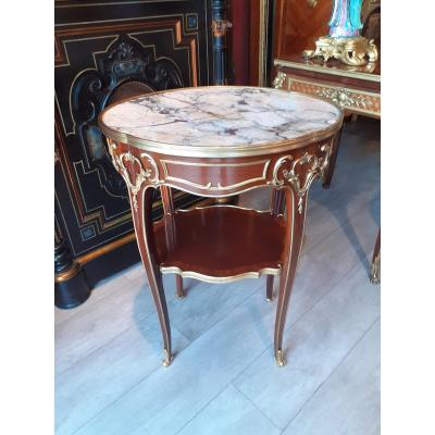 Pedestal Mahogany And Gilt Bronze Louis XV Style Late 19th Century