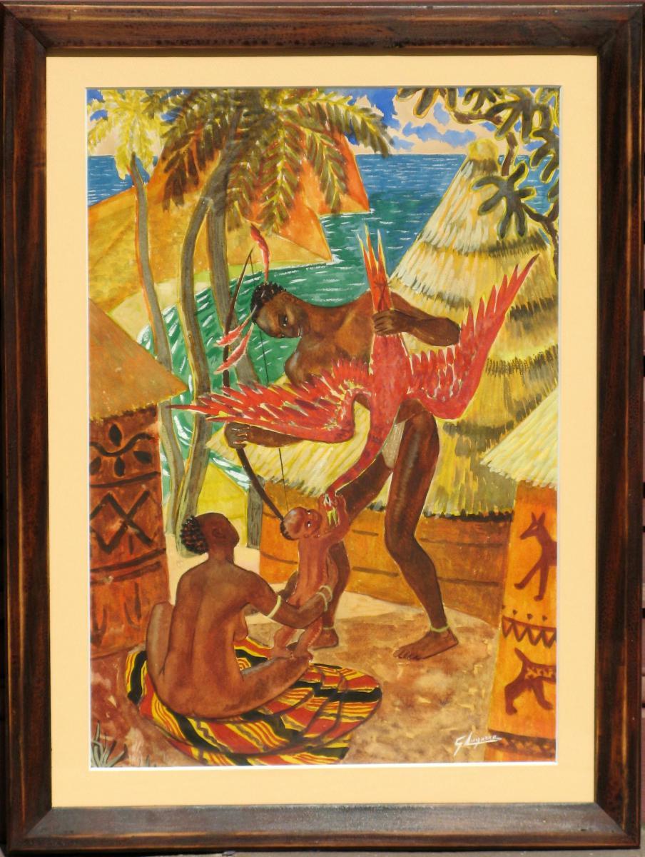 RENE GASTON LAGORRE : RETOUR DE CHASSE EN AFRIQUE