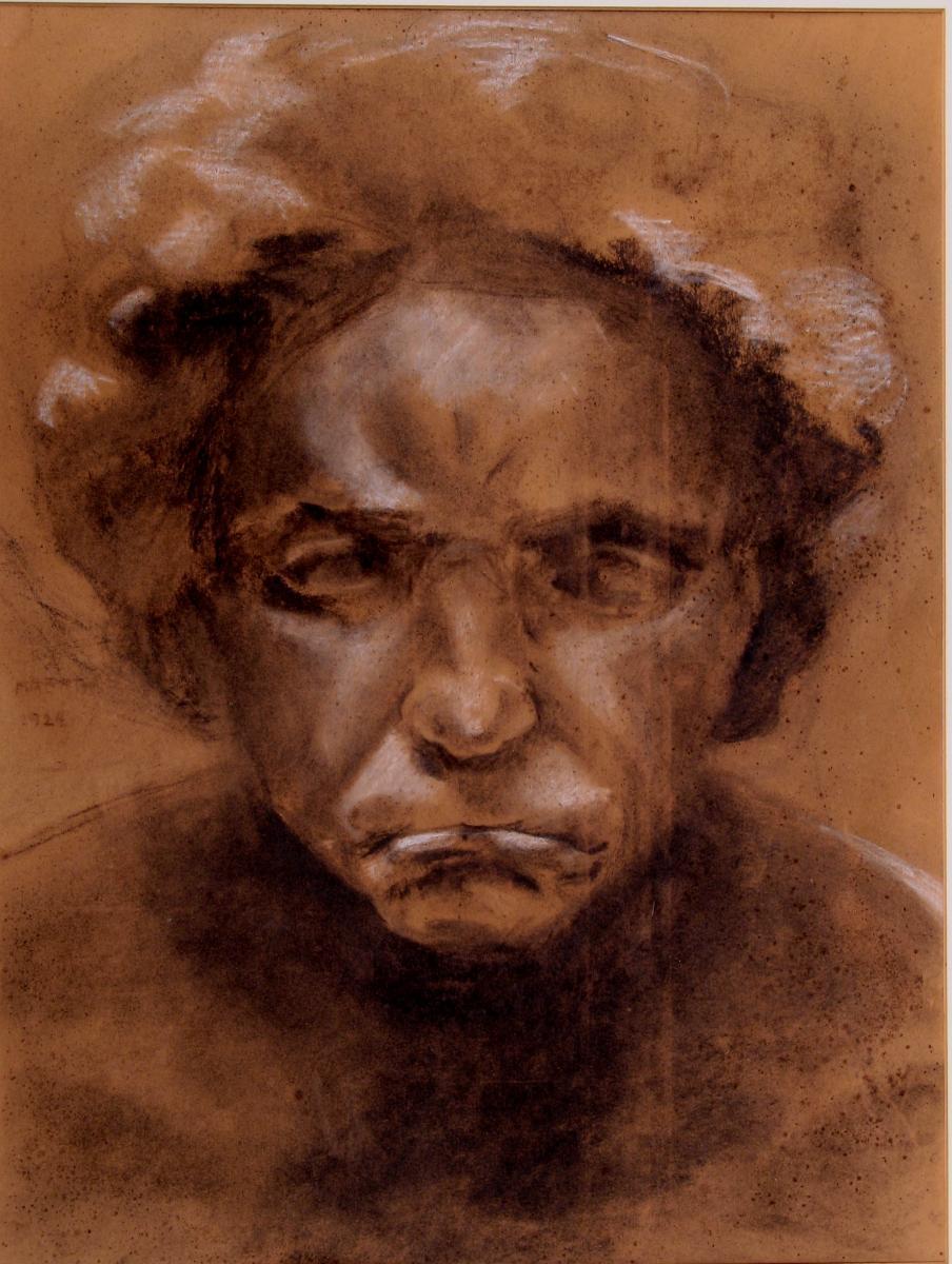 GRAND DESSIN  PORTRAIT EXPRESSIONNISTE 1924