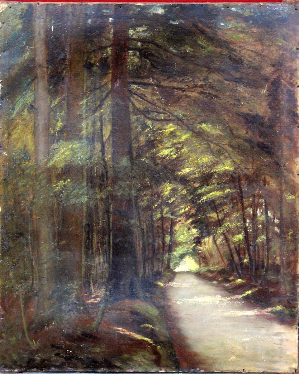 """Impressionist Schoo L: """"the Alley Under The Pines"""""""