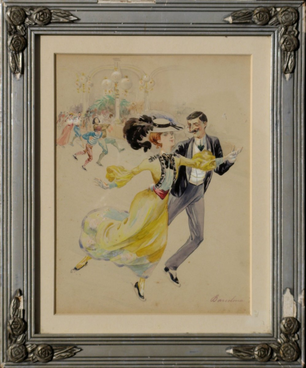 "FRITZ : ""PATINAGE A BARCELONE"" 1904"