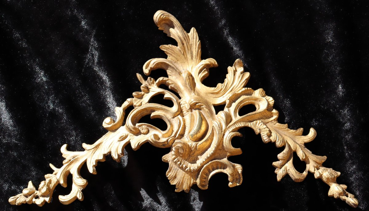 Fronton Frame Or Louis XV Crossbody Ornament In Bronze XIXth