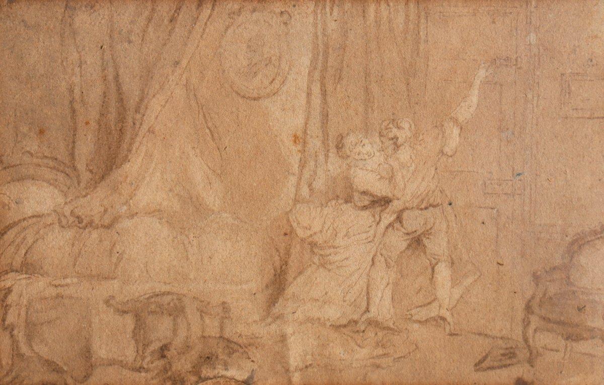 """After Fragonard : Drawing """"le Verrou"""""""