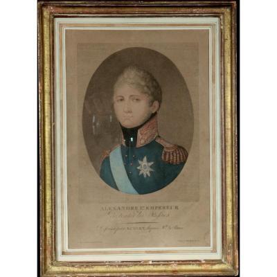 GRAVURE ALEXANDRE Ier EMPEREUR DE TOUTES LES RUSSIES
