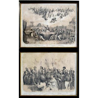 Pair Of Large Lithographs Niii