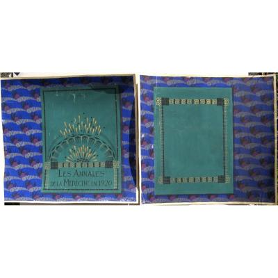 "Suzanne Agron : ""two Art-deco Binding Projects"""