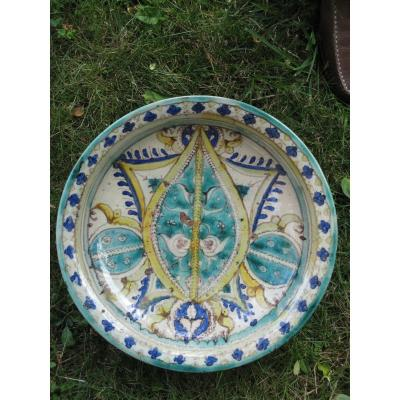 Large Oriental Dish In Decorated Earthenware