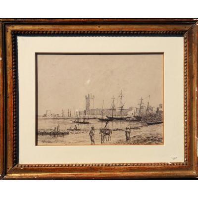 """ACHILLE FOUQUIER (1817-1895 ?) 8 : """"RHODES 1855"""""""