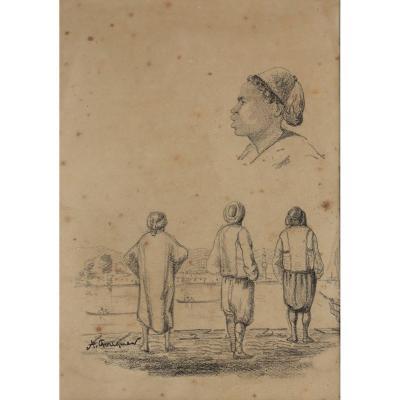 """ACHILLE FOUQUIER (1817-1895 ?) 17 : """"ETUDES DE TURCS"""""""