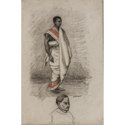 """ACHILLE FOUQUIER (1817-1895 ?) 19 : """" COSTUME D'ABYSSINIEN"""""""
