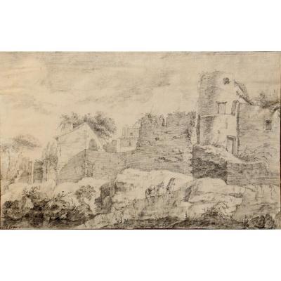 J. De Bru : Drawing XVIIIth