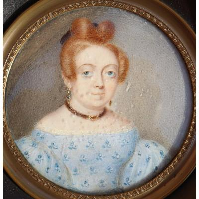 """Miniature Louis-philippe : """"young Woman With Jewelery"""""""