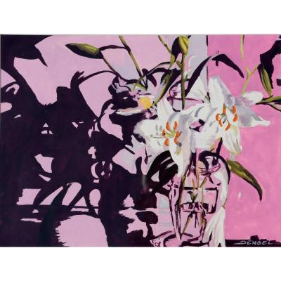 """Denoel : """"bouquet Of Lilies On The Pink Wall"""""""