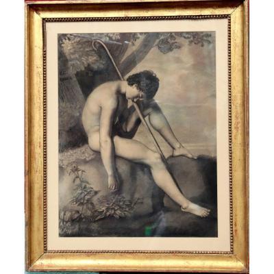 """ECOLE NEO-CLASSIQUE 1803 : """"LE PÂTRE ENDORMI"""""""