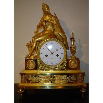 Pendule Empire Signé Jacob « Hébé Et L'aigle De Jupiter »