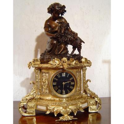 Pendule En Bronze Napoleon III