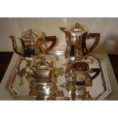 Tea Set - Coffee, 4 Pieces In Sterling Silver, Goldsmith Charles Tirbour
