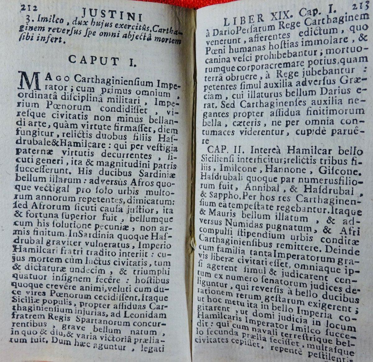 Justin - Historiarum Ex Trogo Pompeio. Imprimé à Rouen En 1758.-photo-3