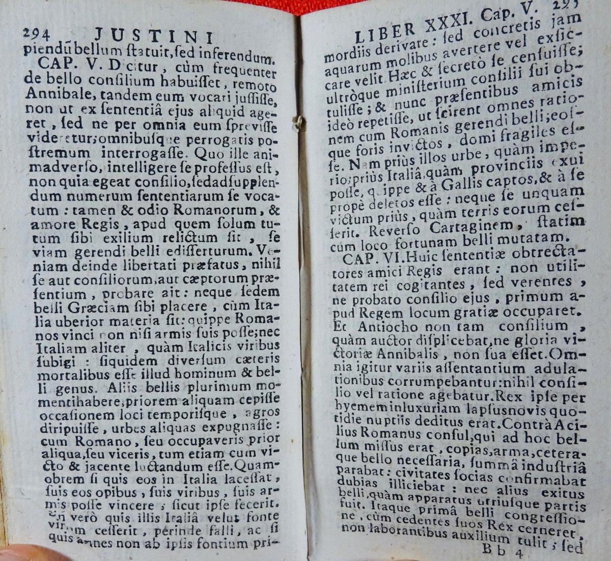 Justin - Historiarum Ex Trogo Pompeio. Imprimé à Rouen En 1758.-photo-5