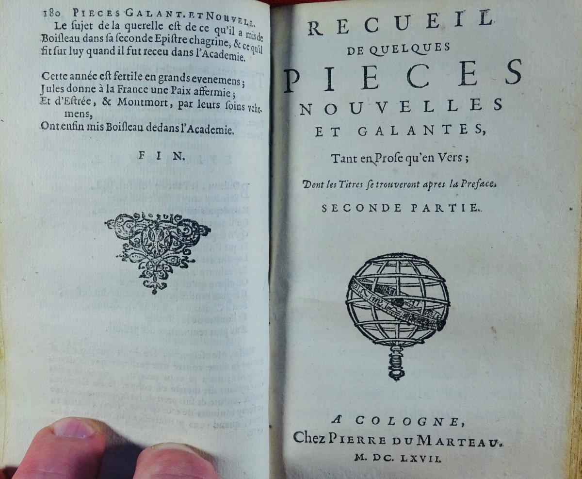 Recueil De Quelques Pièces Nouvelles Et Galantes. Chez Pierre Marteau, 1667.-photo-1
