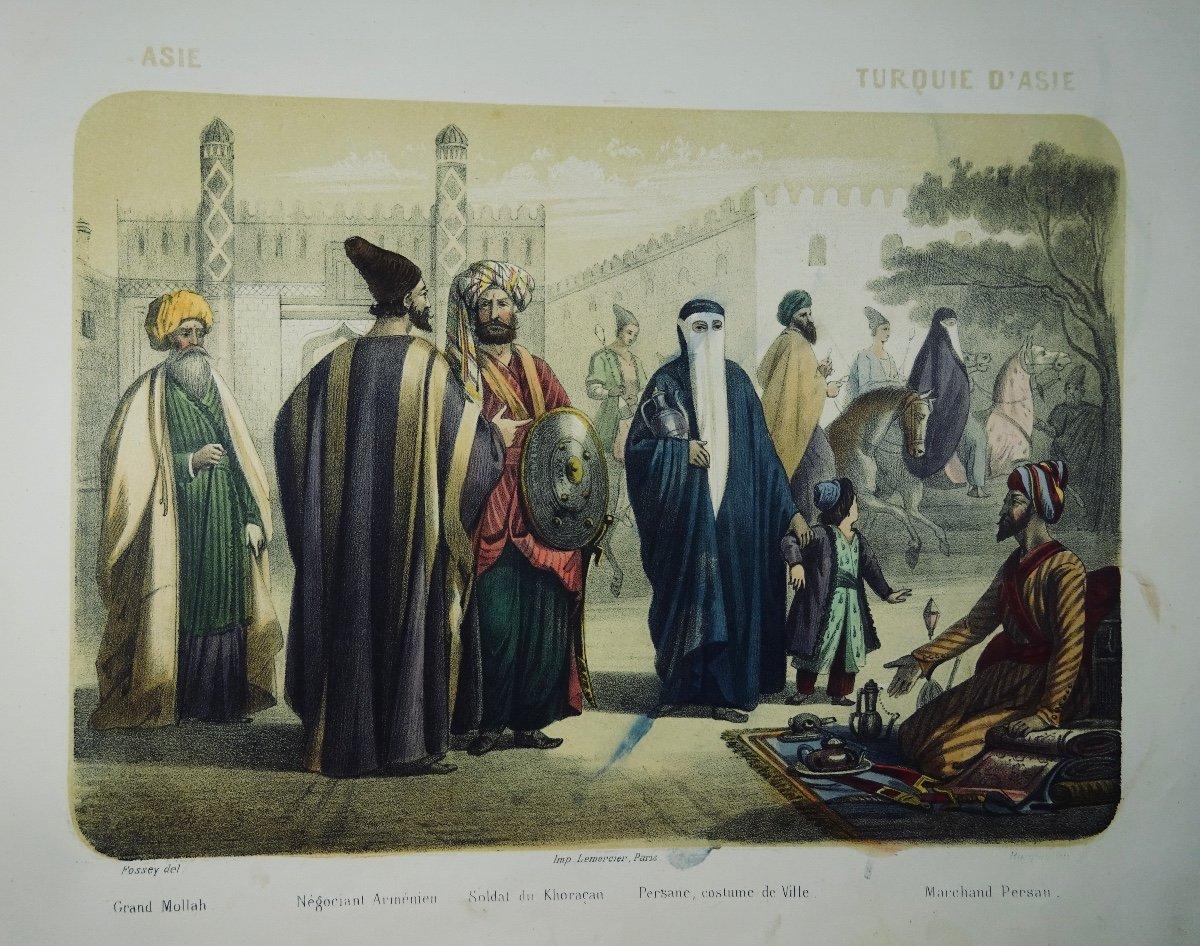 Muller - Le Monde En Estampe. 24 Lithographies En Couleurs De Bocquin. Vers 1860.-photo-2
