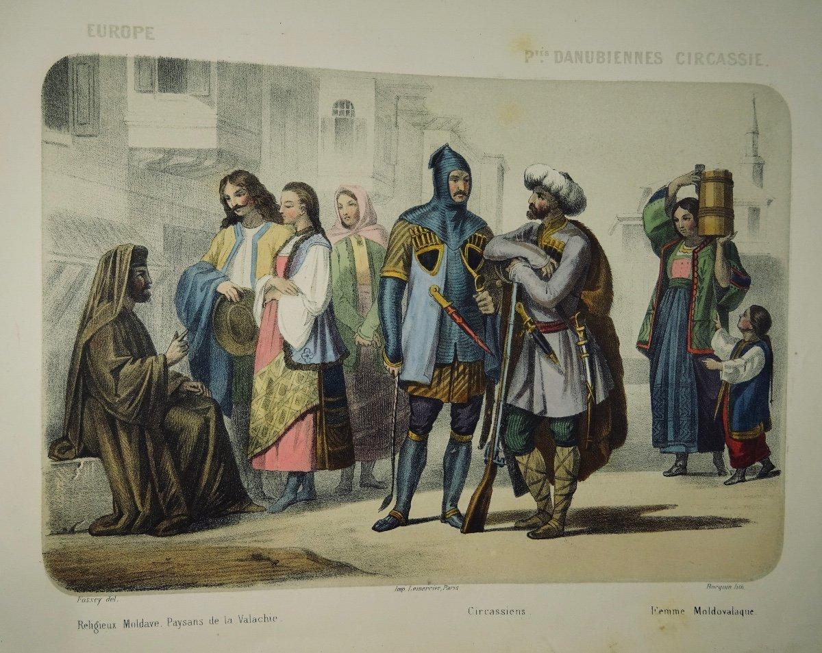 Muller - Le Monde En Estampe. 24 Lithographies En Couleurs De Bocquin. Vers 1860.-photo-1
