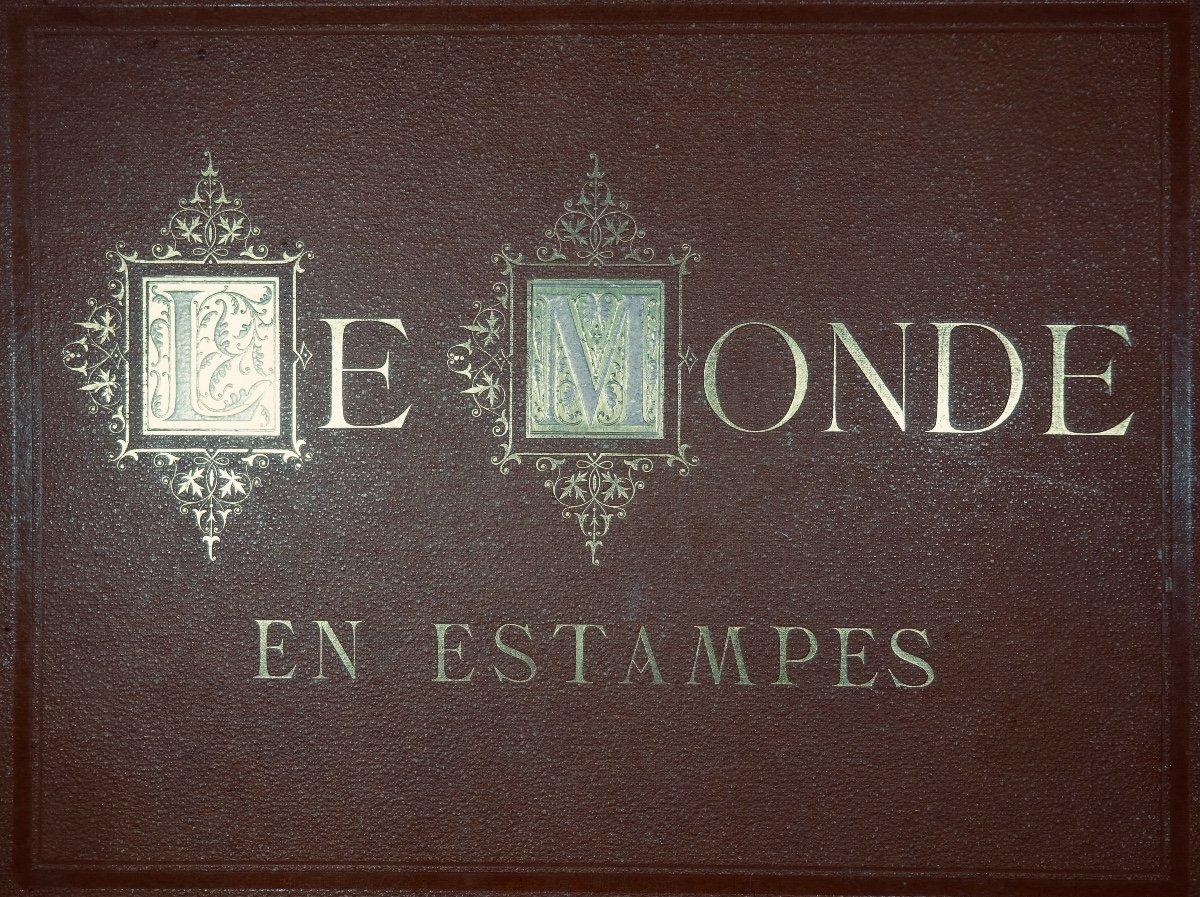 Muller - Le Monde En Estampe. 24 Lithographies En Couleurs De Bocquin. Vers 1860.-photo-5