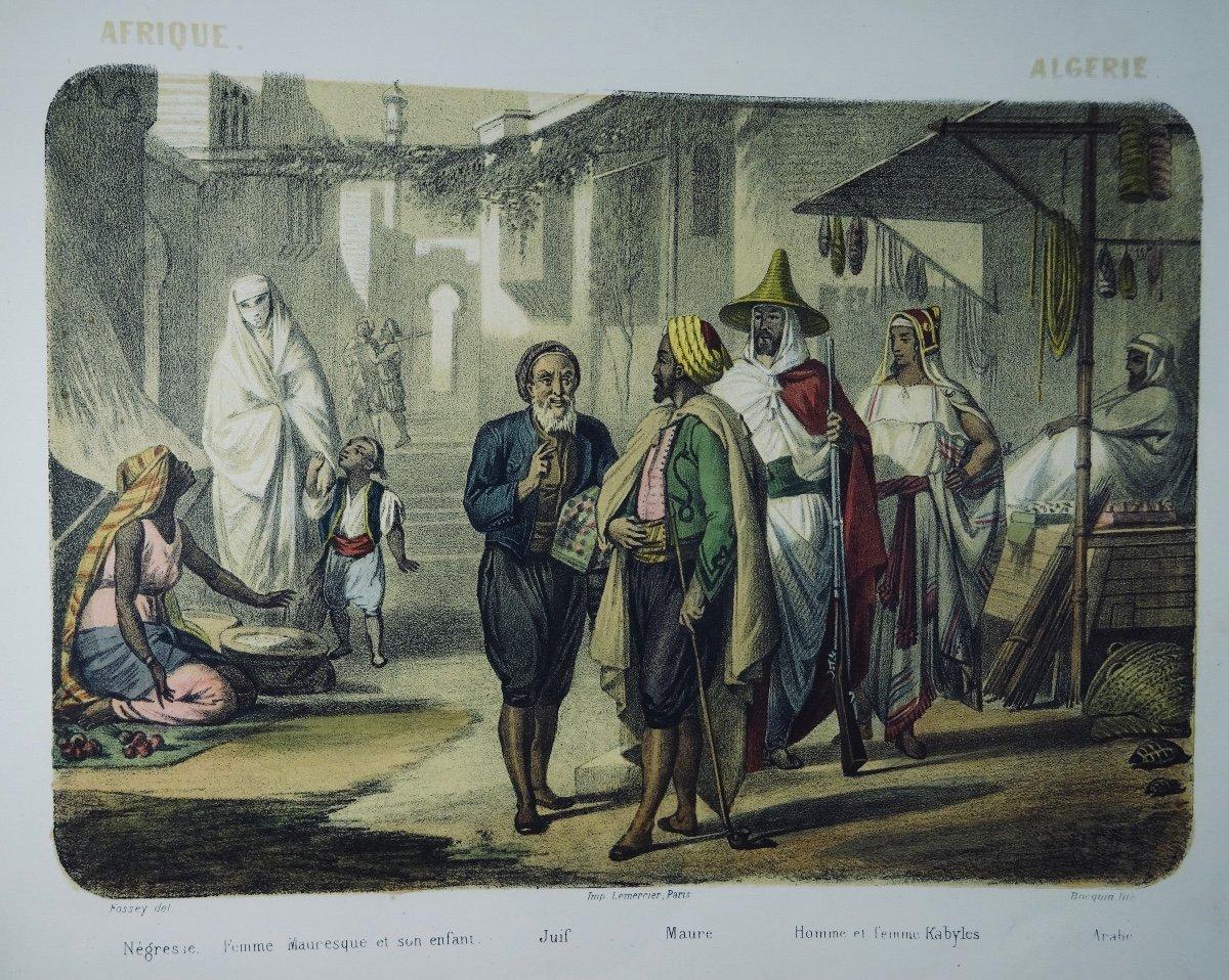 Muller - Le Monde En Estampe. 24 Lithographies En Couleurs De Bocquin. Vers 1860.-photo-6