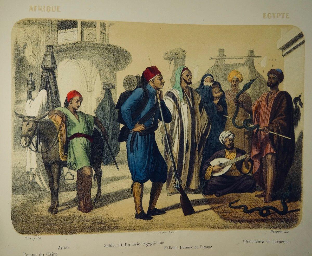 Muller - Le Monde En Estampe. 24 Lithographies En Couleurs De Bocquin. Vers 1860.-photo-7