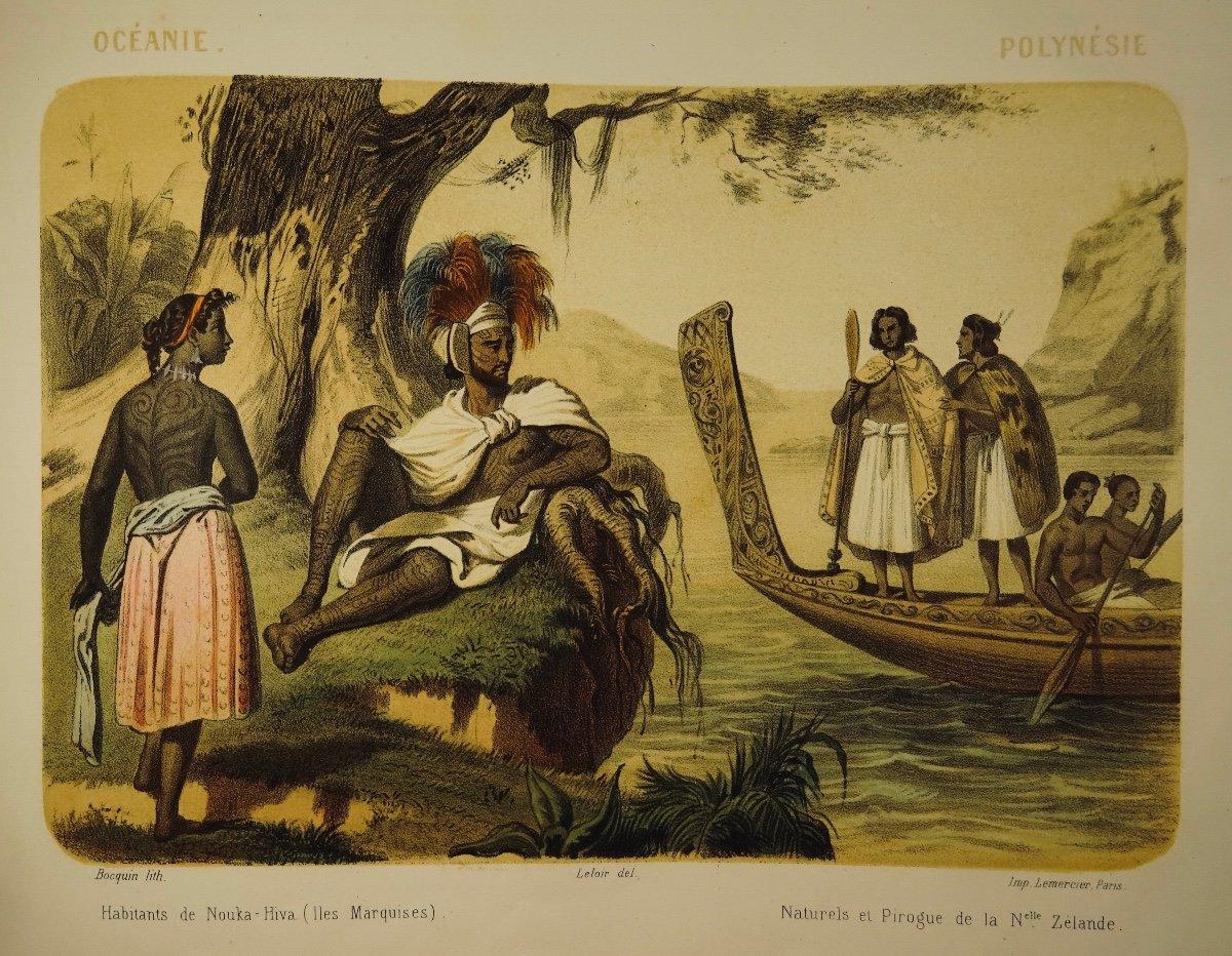 Muller - Le Monde En Estampe. 24 Lithographies En Couleurs De Bocquin. Vers 1860.-photo-8