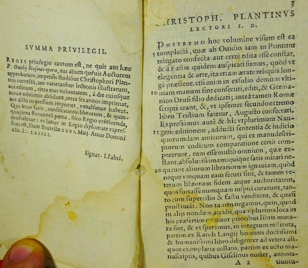 Ovide - Oeuvres En Latin Imprimées à Anvers Par Plantin En 1667.-photo-2
