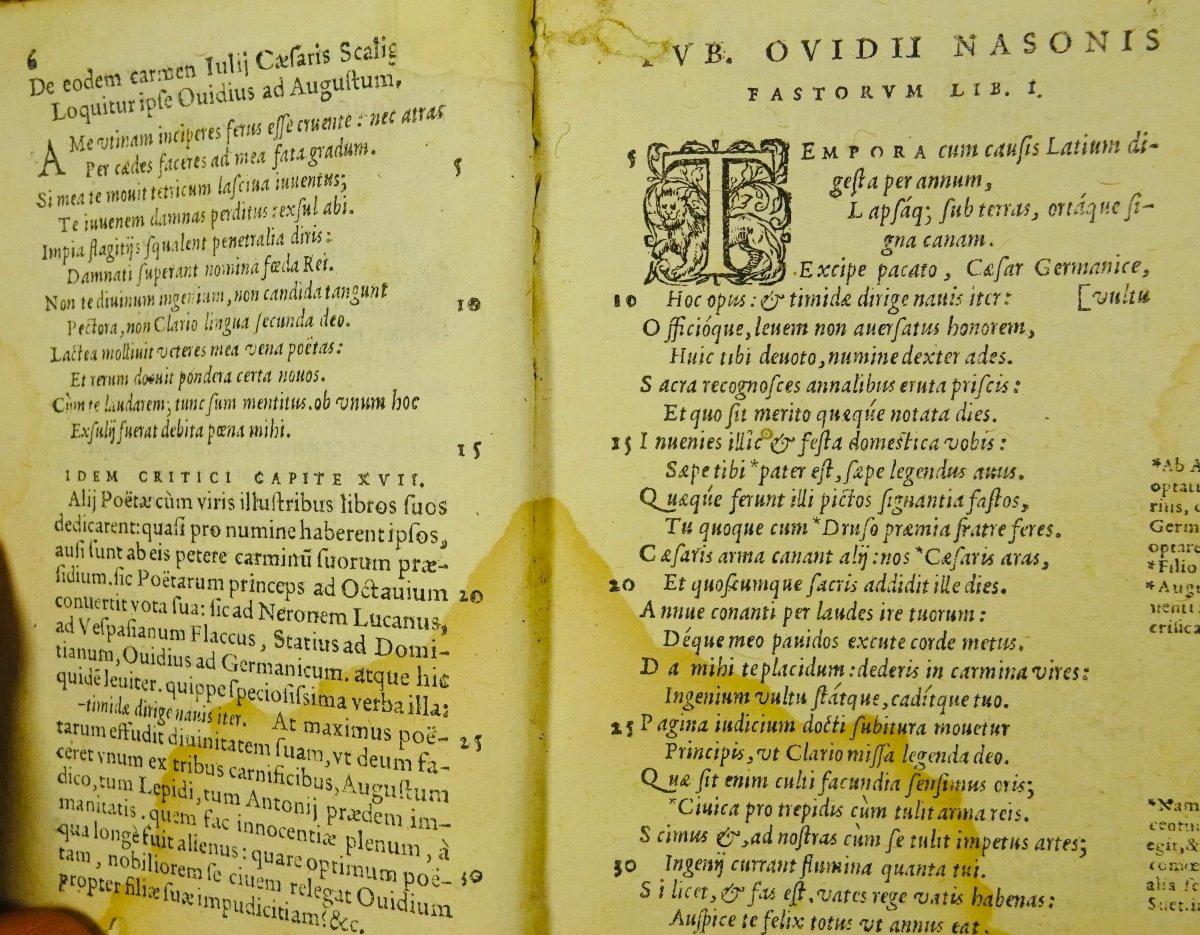 Ovide - Oeuvres En Latin Imprimées à Anvers Par Plantin En 1667.-photo-4