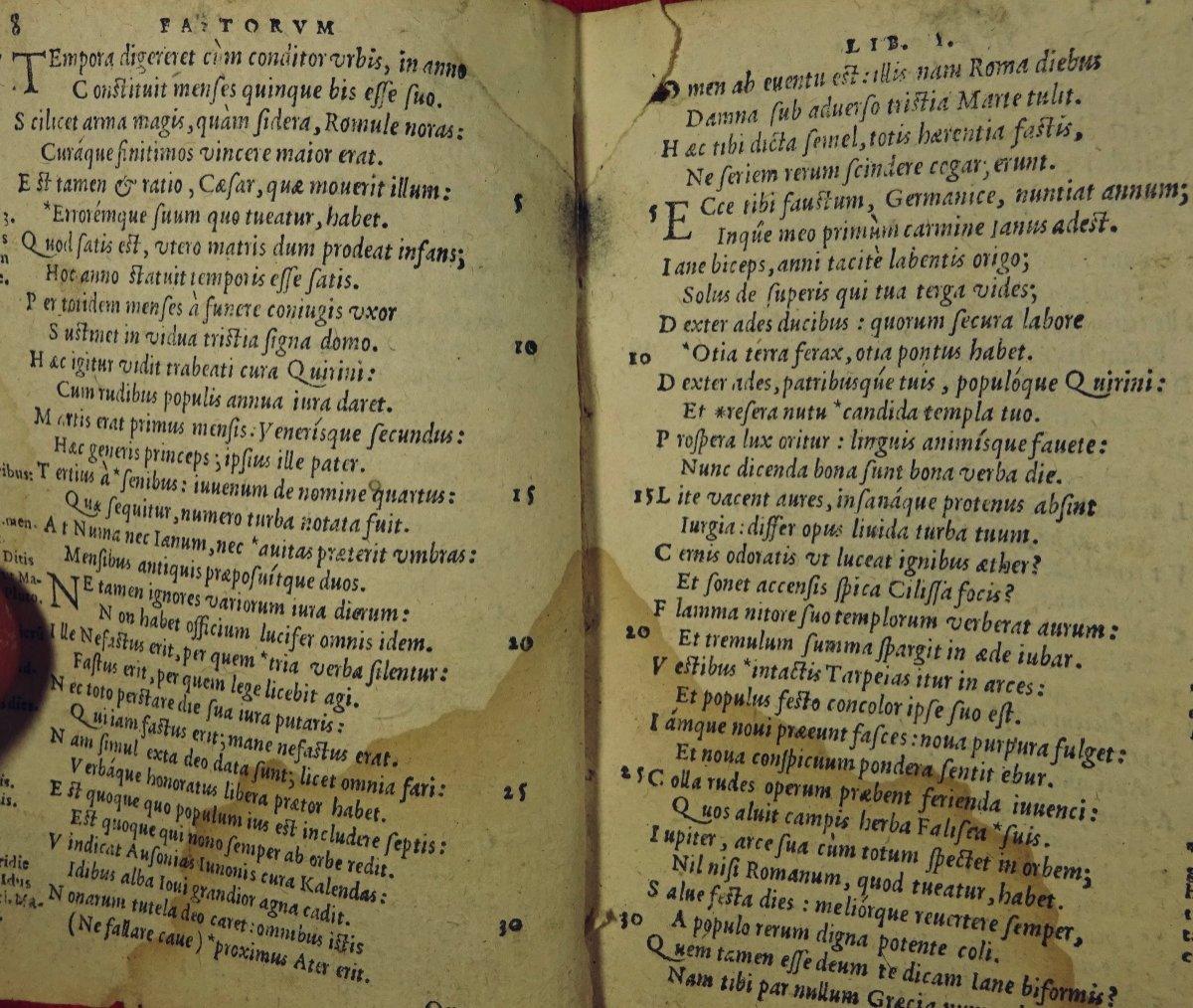 Ovide - Oeuvres En Latin Imprimées à Anvers Par Plantin En 1667.-photo-1