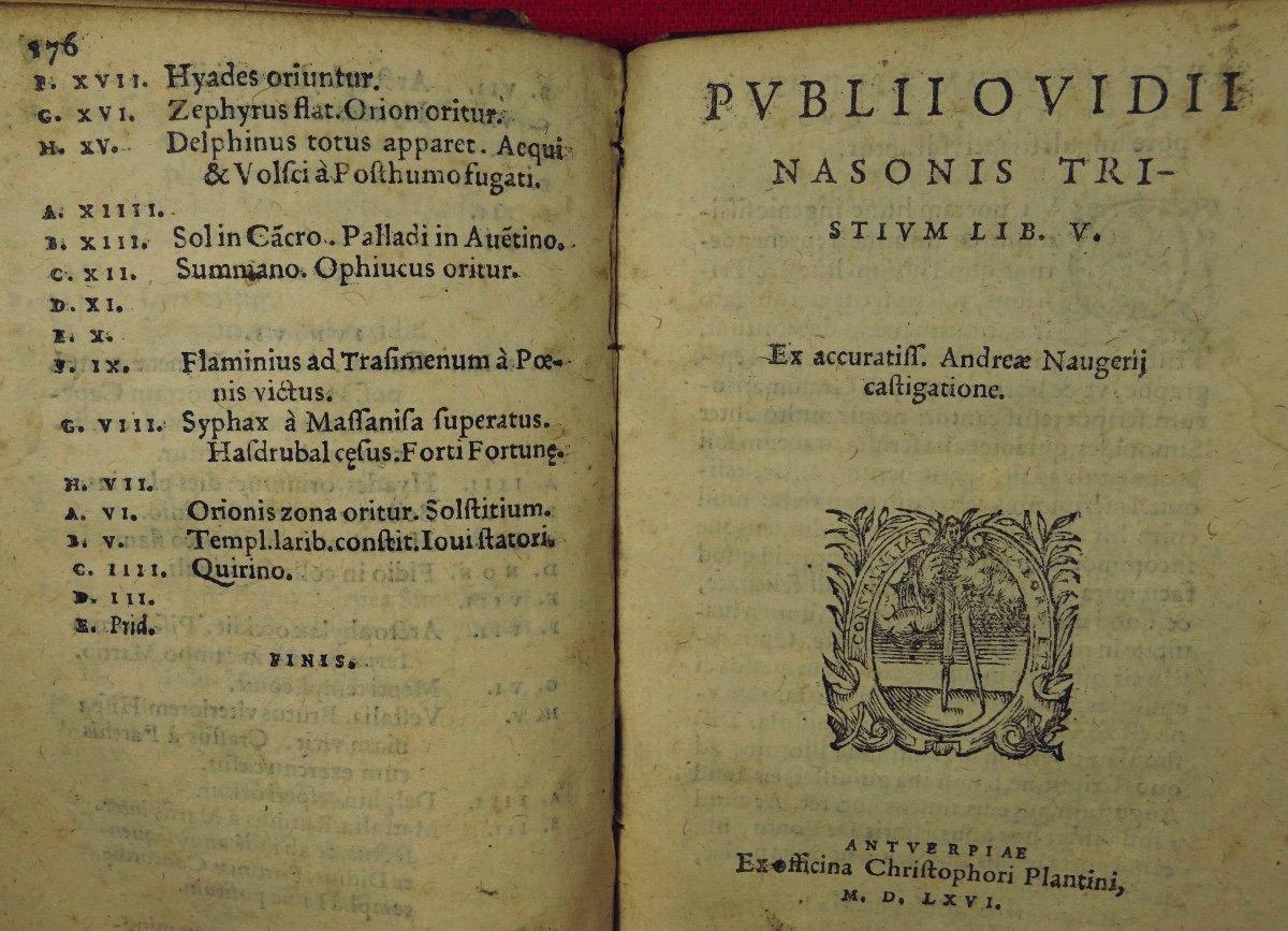 Ovide - Oeuvres En Latin Imprimées à Anvers Par Plantin En 1667.-photo-3