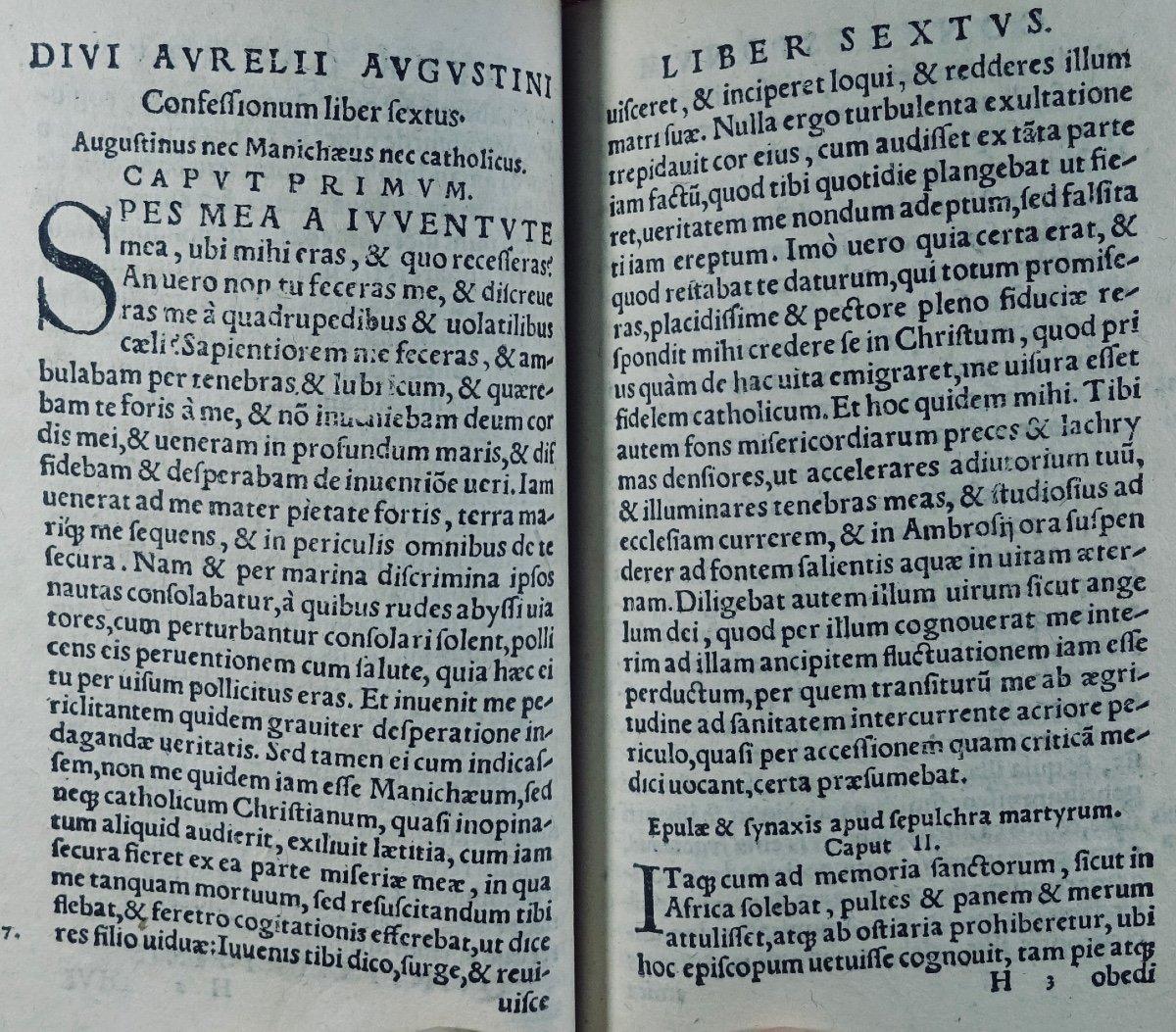 Les Confessions De Saint Augustin, Imprimé à Cologne En 1531, Dans Une Reliure Signée Capé.-photo-1