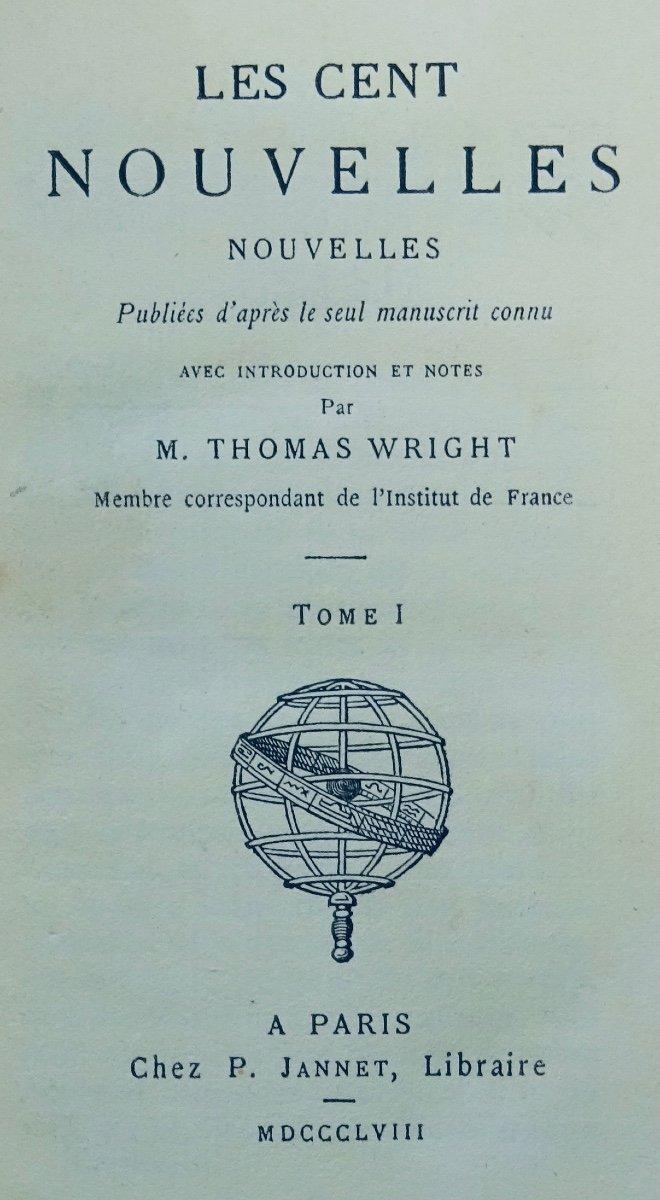 Anonyme - Les Cent Nouvelles Nouvelles. Jannet, 1858.-photo-3