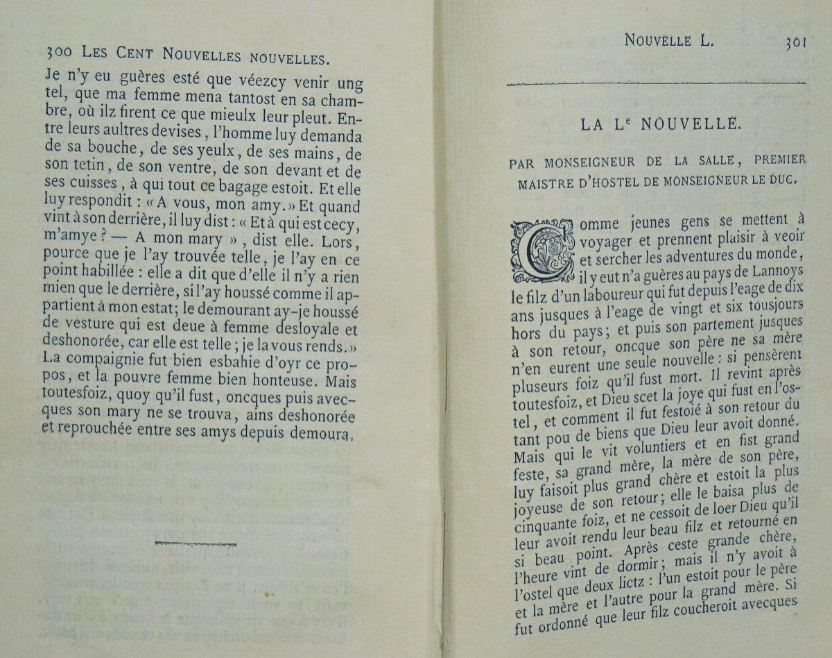 Anonyme - Les Cent Nouvelles Nouvelles. Jannet, 1858.-photo-7