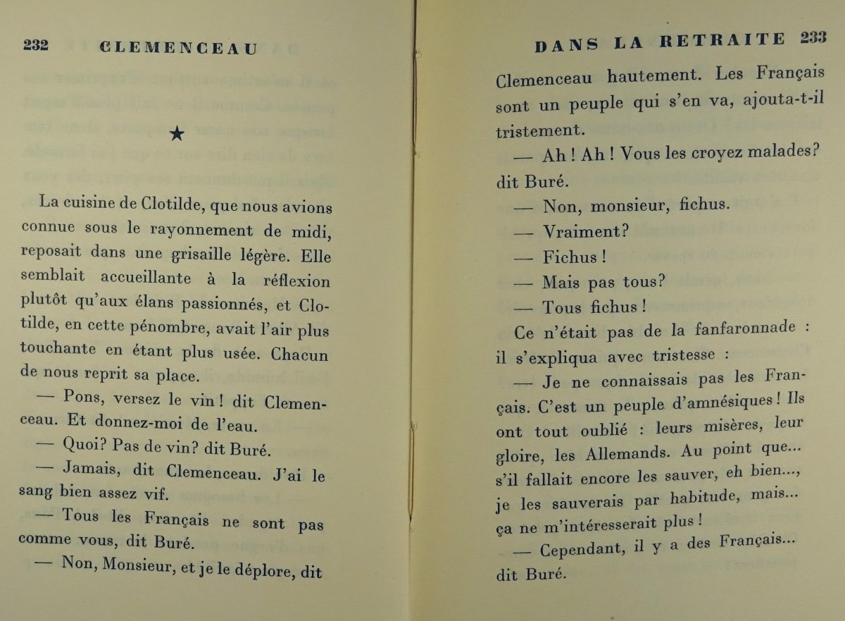 BENJAMIN - Clémenceau dans la retraite. La Palatine, 1930. Édition originale.-photo-1