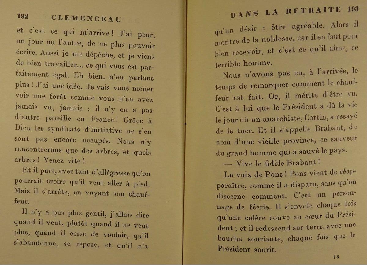 BENJAMIN - Clémenceau dans la retraite. La Palatine, 1930. Édition originale.-photo-2