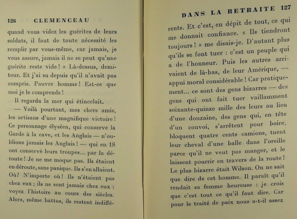 BENJAMIN - Clémenceau dans la retraite. La Palatine, 1930. Édition originale.-photo-4