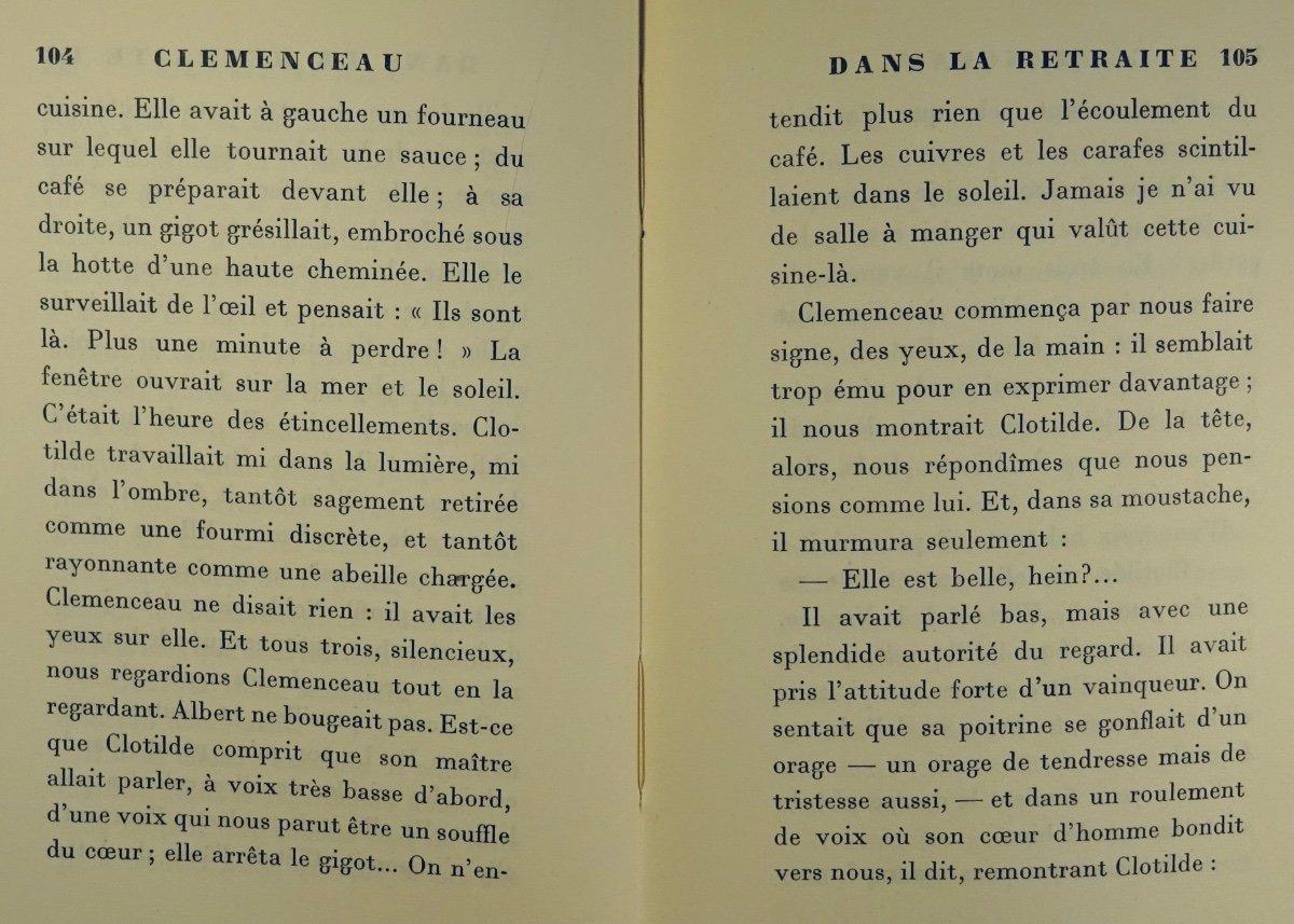 BENJAMIN - Clémenceau dans la retraite. La Palatine, 1930. Édition originale.-photo-5